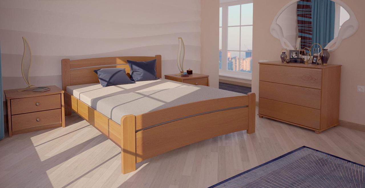 Кровать односпальная в детскую/спальню ХМФ Сидней-2 (90*190)