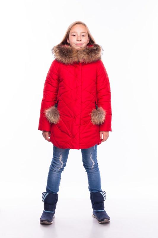 Зимняя куртка для девочки, рост 128 - 146 см, разные цвета
