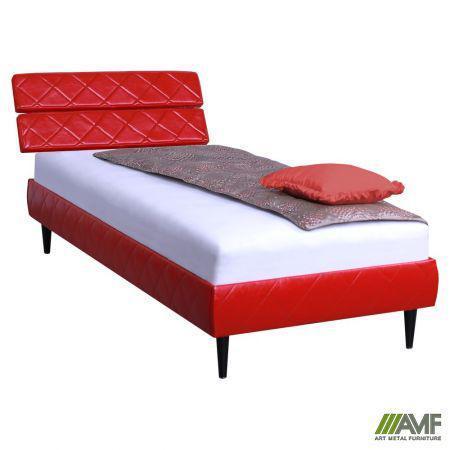 Ліжко (Кровать) Бізе 80х200 Скаден червоний, ніжки букові конус венге AMF