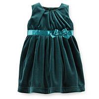 Ошатне велюрову сукню для дівчинки Carters зелене