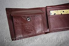 Портмоне мужское кожаное коричневое стандарт, натуральная кожа, фото 2