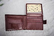 Портмоне мужское кожаное коричневое стандарт, натуральная кожа, фото 3