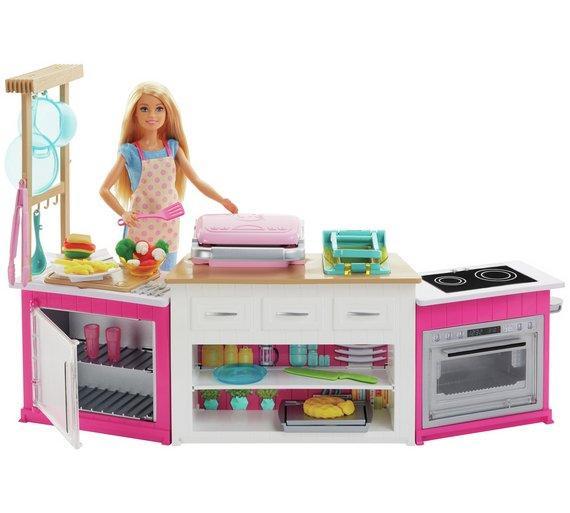 Игровой набор Кукла Барби на кухне Готовим вместе Barbie Ultimate Kitchen Playset with Doll