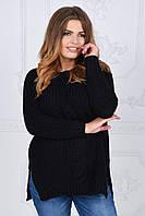 Женский батальный теплый вязаный свитер. 4 цвета!, фото 1