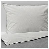 IKEA BLAVINDA Комплект постельного белья, серый  (903.280.84)