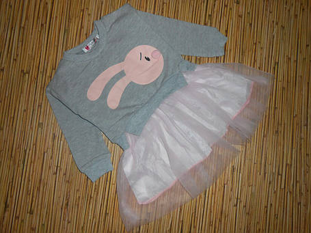 Платье детское на девочку весна-осень серое, фото 2