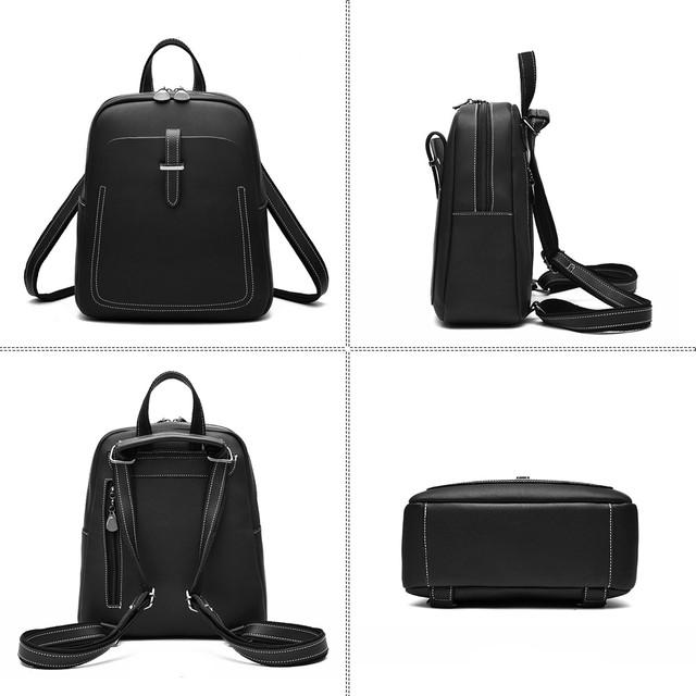 0facb9342fbb Описание Рюкзак сумка трансформер женский из экокожи с пряжкой (черный)