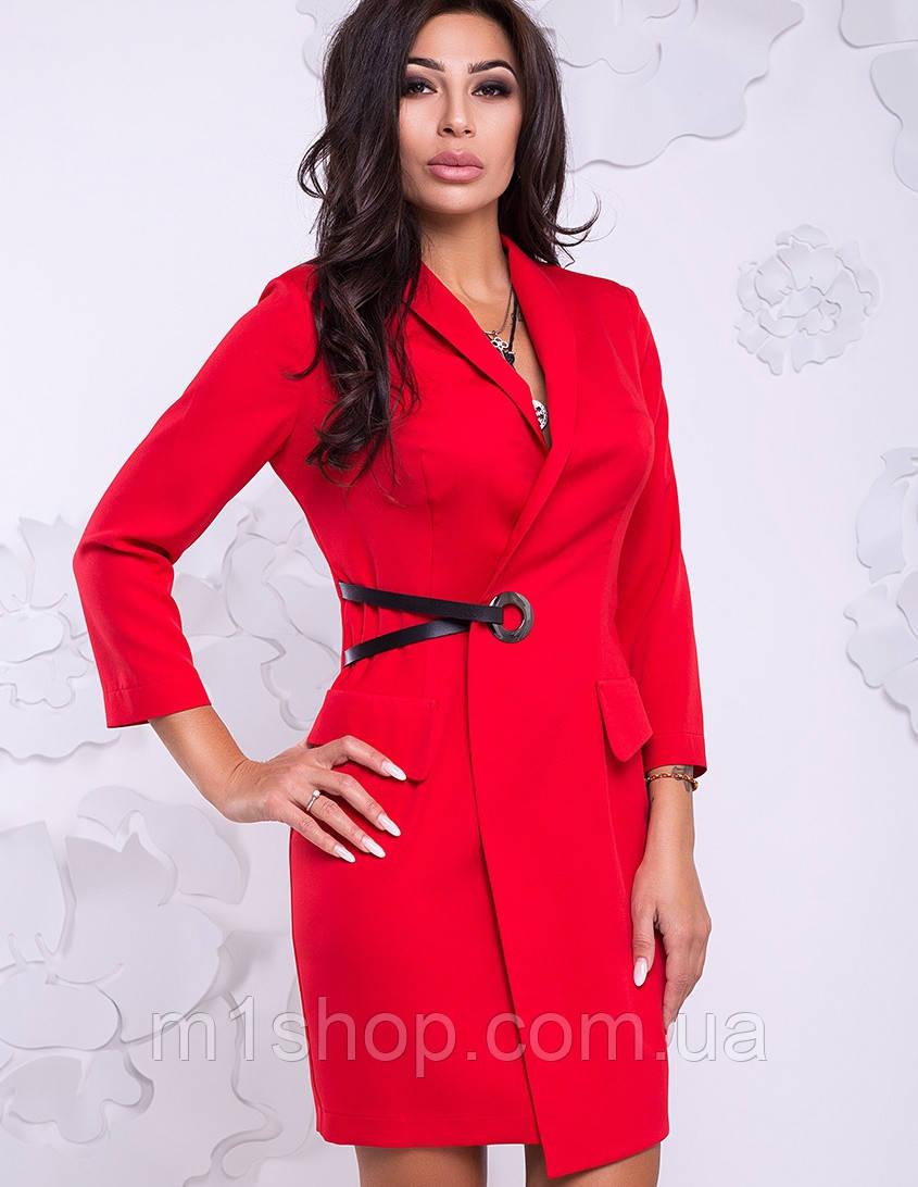 Женское деловое платье на запах (Карина lzn)