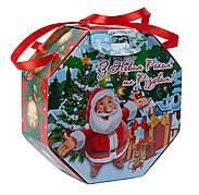 Картонна упаковка для цукерок Восьмигранник з ручкою Мультяшка, 16,5х7х16,5см