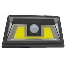 Светильник 10W на солнечной батарее с датчиком движения. Светодиодный светильник настенный Led, фото 3
