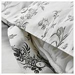 IKEA ALVINEKVIST Комплект постельного белья, белый, серый  (101.596.31), фото 5