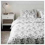 IKEA ALVINEKVIST Комплект постельного белья, белый, серый  (101.596.31), фото 6