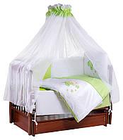 Детская постель TuttoLina Sweet Kitty (7 элементов) 30 салатовый-белый  (котик с e1e7635109603