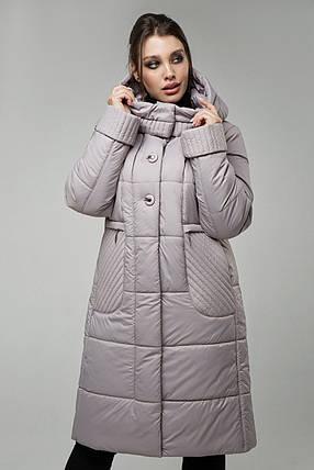 Стеганое утепленное пальто с капюшоном, прямого силуэта, с карманами Большие размеры 48-58, фото 2