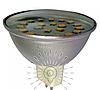 Светодиодная лампа LM320 MR16 36LED  4.5W 6500К