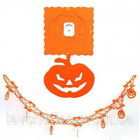 Декор для Хэллоуина. Гирлянда бумажная Тыква.