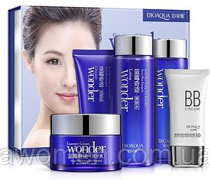 Набор Bioaqua Wonder из пяти средств по уходу за кожей для лица с экстрактом черники