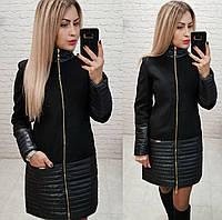 Пальто осень / весна арт. 137 черный / черного цвета