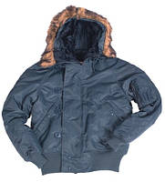 Куртка Аляска  «N2B»  Polyurethan короткая  цвет синяя