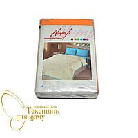 Комплект постельного белья махра+бязь полуторный, оранжевый