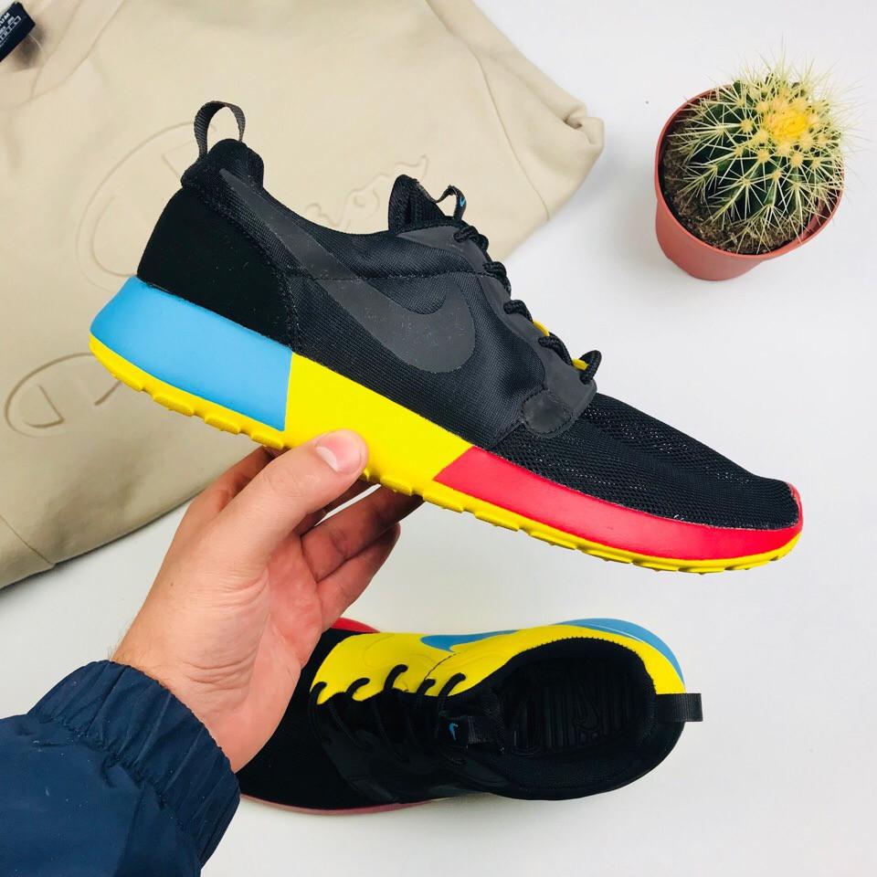 """Мужские кроссовки Nike Roshe Run QS """"Black"""" (люкс копия)"""