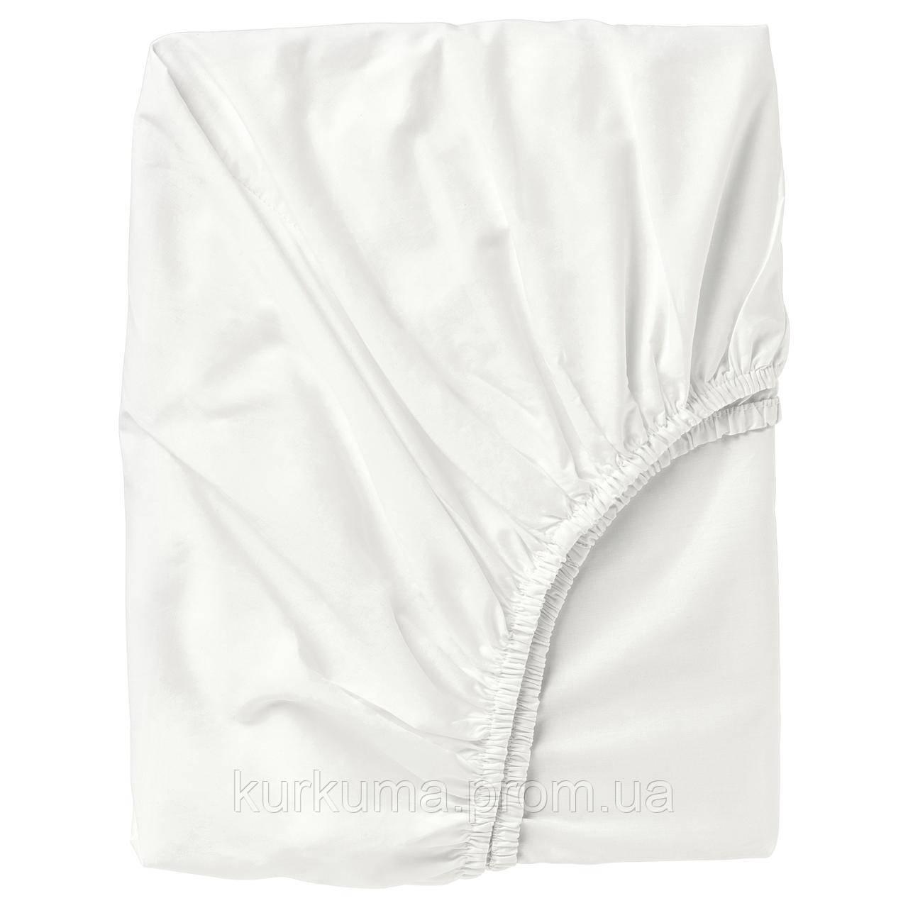 IKEA ULLVIDE Простыня с резинкой, белый  (103.427.72)
