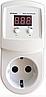 Реле напряжения в розетку УКН-10р 10А для защиты отдельных приборов
