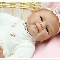 Кукла реборн Оля, мягконабивная 40 см, ручная работа reborn doll