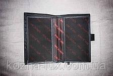 Мужское кожаное портмоне с отделом для документов, Турция, фото 2