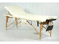 Деревянный 3-х сегментный стол для массажа белый FIT (Польша)