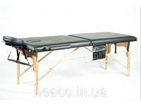 Деревянный 2-х сегментный стол для массажа черный FIT (Польша)