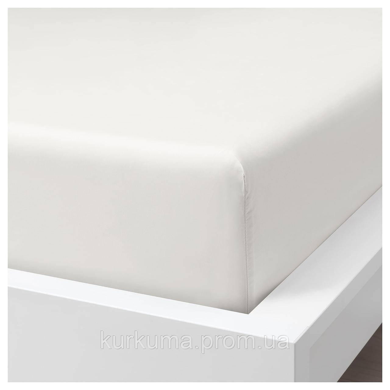 IKEA SOMNTUTA Простыня с резинкой, белый  (604.128.09)