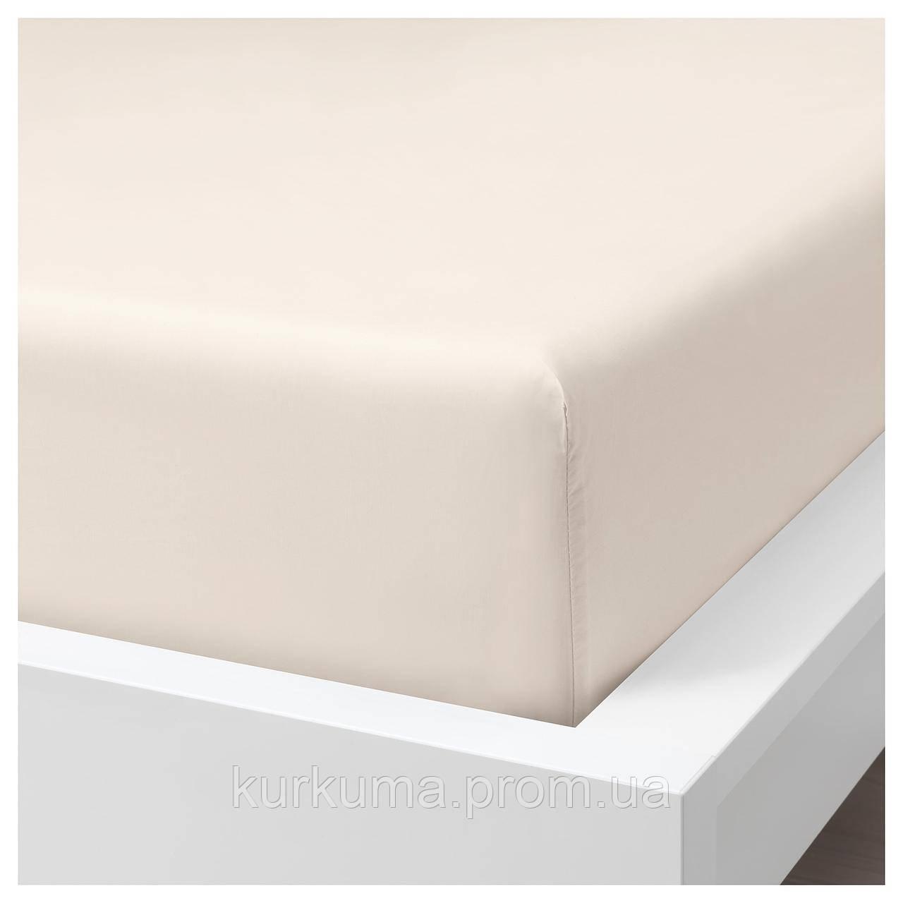 IKEA SOMNTUTA Простыня, светло-бежевый  (804.127.85)