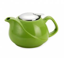 Заварочный чайник 17.5х14х11см/0.75л с ситечком керамический Fissman