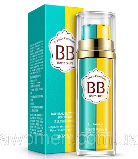 Двухфазный Bioaqua BB Cream + Primer база под макияж Natural Flawless Baby Skin № 1 (Natural)