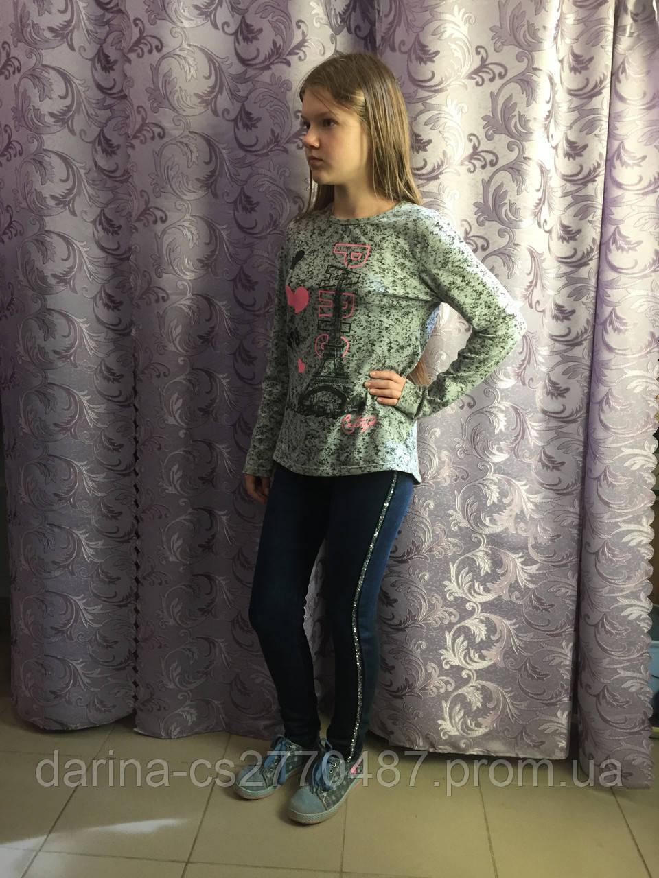 Джинсы на флисе для девочки 134,164 см