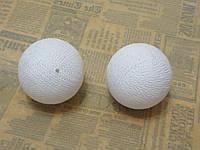 Шарик хлопковый 6см, белый, фото 1