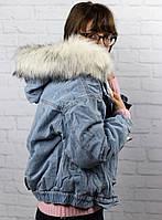 Джинсовая женская куртка с мехом в Украине. Сравнить цены, купить ... 849f51b390a