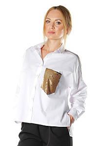 Женская белая рубашка Анфилада