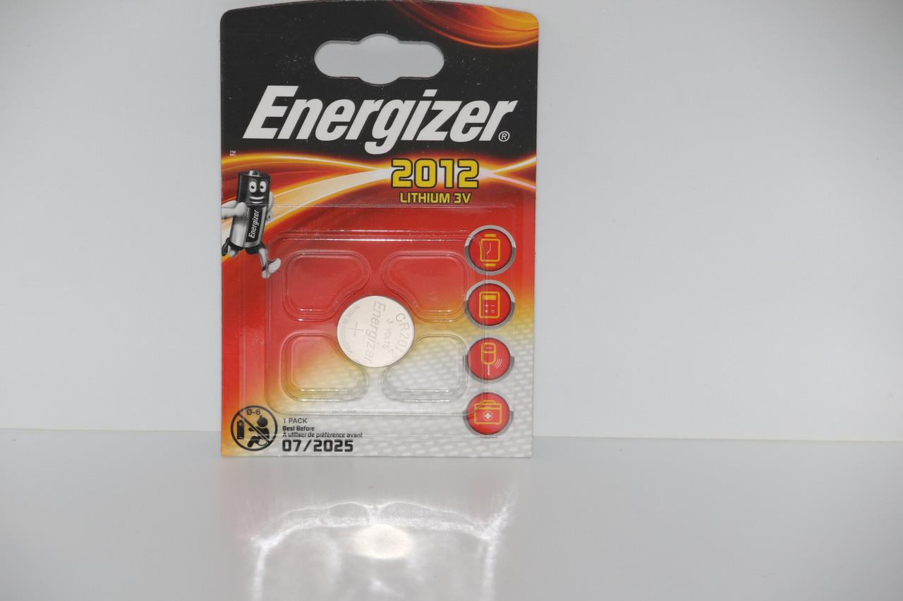 Батарейка для часов. Energizer CR2012 3.0V 38mAh 20x1.2mm. Литиевая
