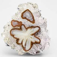 """Срібний перстень з аметистом """"Сніжинка """", розмір 18,9 від студії LadyStyle.Biz"""