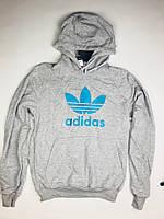 Кофта Adidas серого цвета (люкс копия)