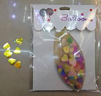 Воздушный шар 3021-19 прозрачный с золотыми сердчками 46см на листе