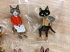 Набор из двух значков «Котики»