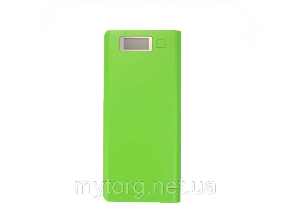 ТОВАР ИМЕЕТ ДЕФЕКТ! ЧИТАЙТЕ ОПИСАНИЕ! Внешний аккумулятор Power Bank, Dual USB Box Уценка! №470 Уценка! Зеленый