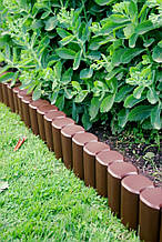 Бордюр садовый декоративный Palisada h 12см темно-коричневий ZMM MAXPOL