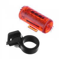 Задняя мигалка LightBike JY-114, красная, 3 LED, 2хААА