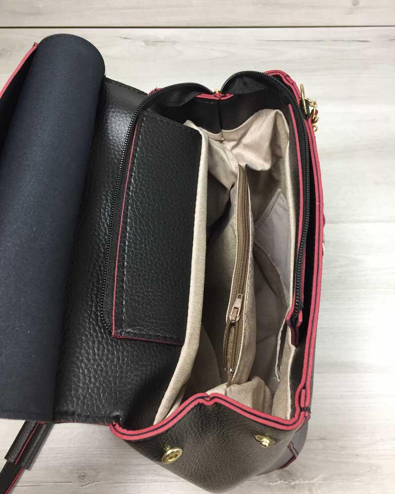 75149bd79f28 Молодежный сумка-рюкзак Сердце черного с красным цвета: 360 грн ...