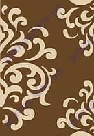 """Коврик Флорида """"Узор на всем ковре"""" цвет коричневый. Ковры California купить"""