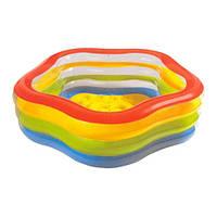 """Семейный надувной бассейн """"Intex"""" 185х180х53 см."""